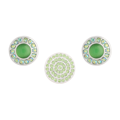 Peridot Sparkle Dot Set