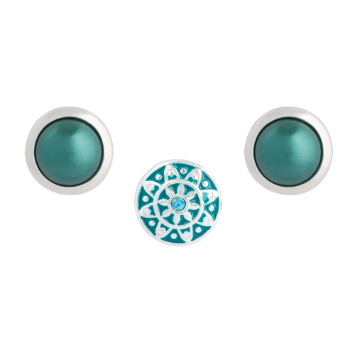 Teal Emblem Dot Set